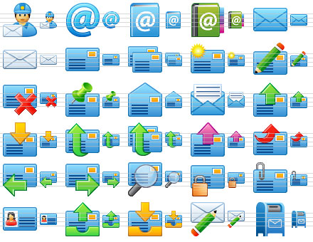 Small Email Icons Screenshot