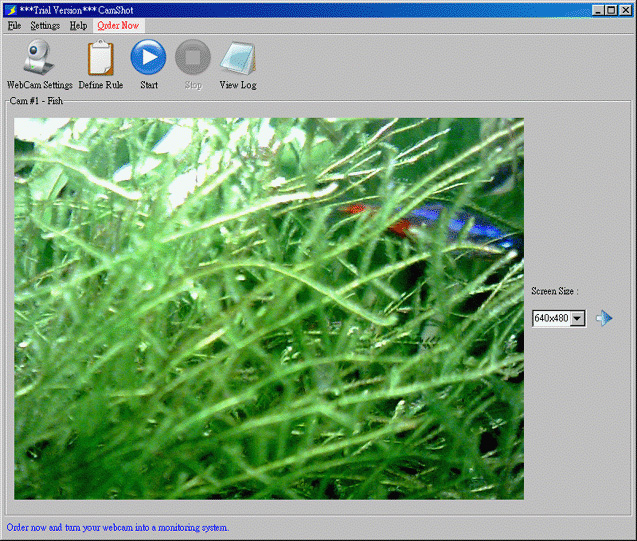 CamShot Monitoring Software Screenshot