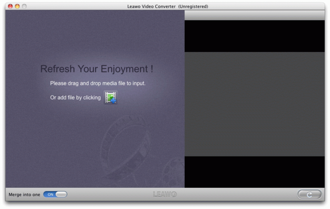 Leawo Mac Video Converter Screenshot