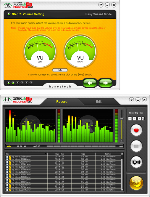 honestech Audio Recorder Screenshot