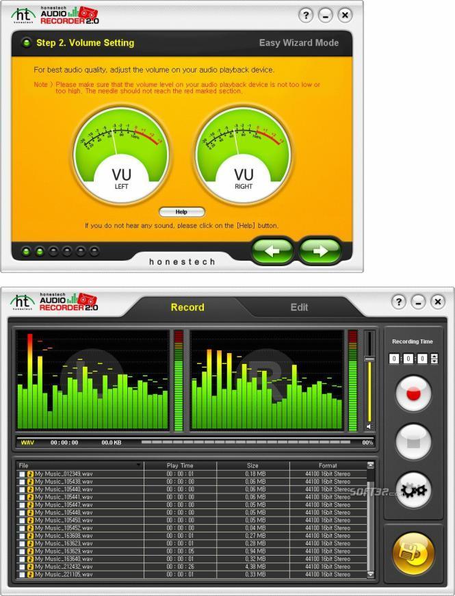 honestech Audio Recorder Screenshot 3