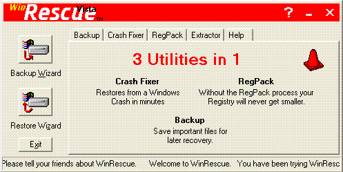 WinRescue Vista Screenshot 1
