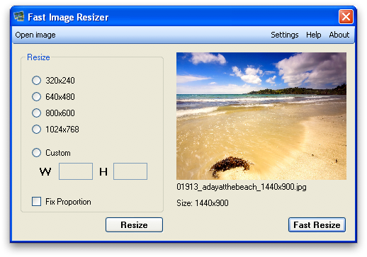 FastImageResizer Screenshot 1