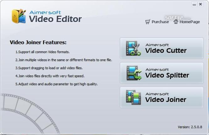 Aimersoft Video Editor Screenshot 1