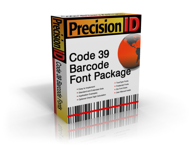 PrecisionID Code 39 Barcode Font Package Screenshot