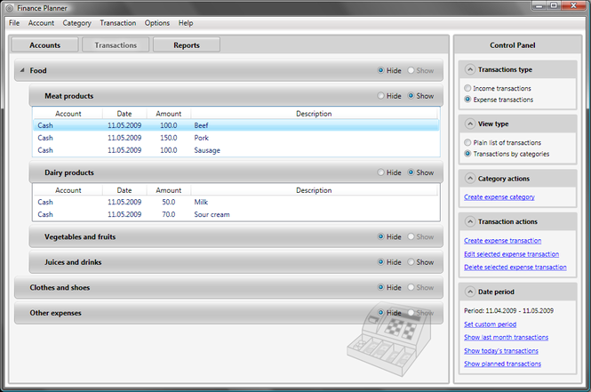 Finance Planner Screenshot 1