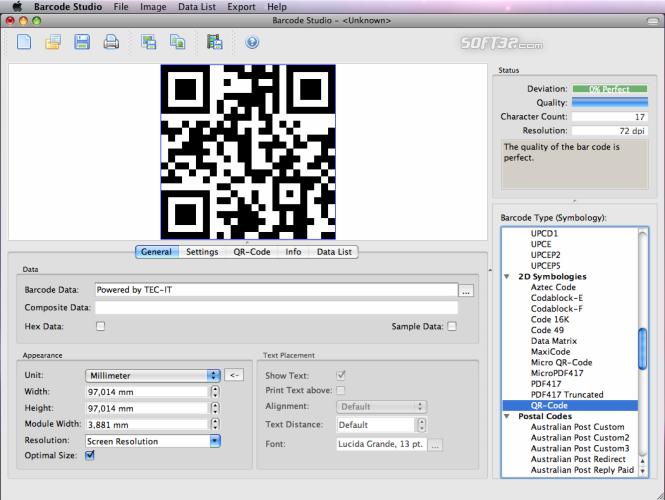 Barcode Creator Barcode Studio for Mac Screenshot 2