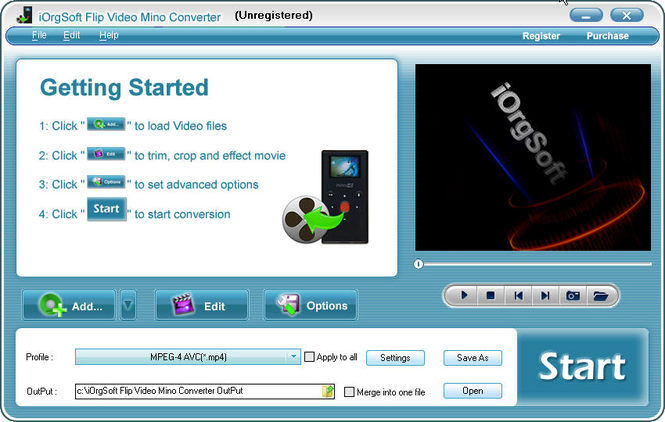 Flip Video Mino Converter Screenshot