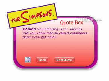 The Simpsons Quote Box Screenshot
