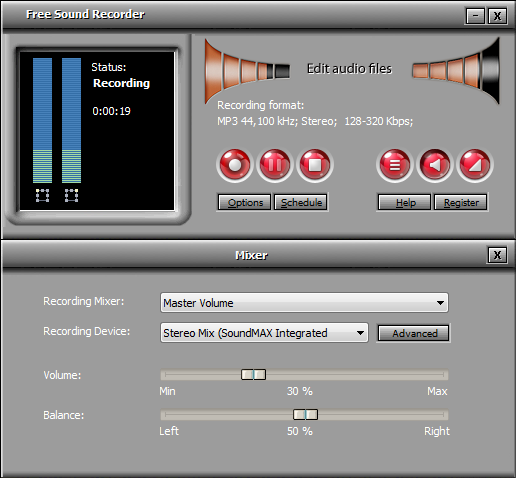 Free Sound Recorder Screenshot 2
