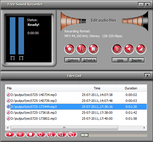 Free Sound Recorder Screenshot 3