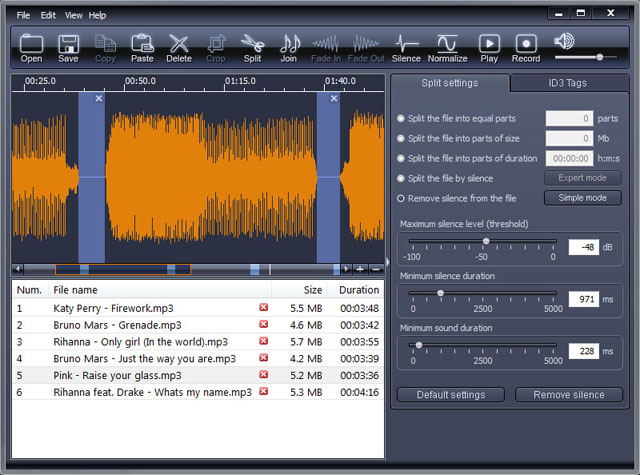 X-Wave MP3 Cutter Joiner Screenshot