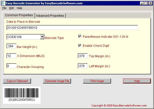 Easy Barcode Generator Software Screenshot 1