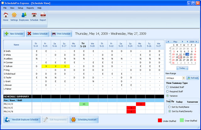 Employee Scheduling Software by EDP Screenshot