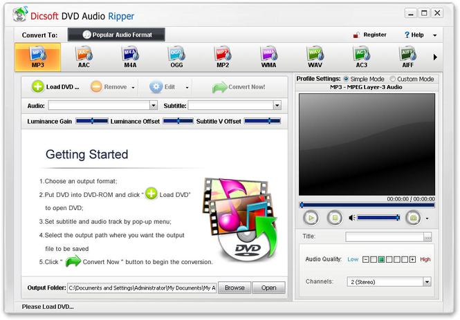 Dicsoft DVD Audio Ripper Screenshot 1