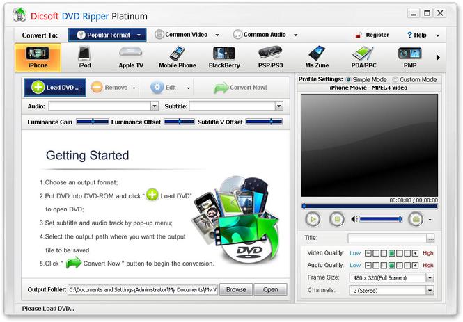 Dicsoft DVD Ripper Platinum Screenshot