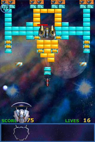 iPhone Meteor Brick Breaker Screenshot
