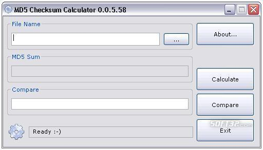 MD5 Checksum Calculator Screenshot