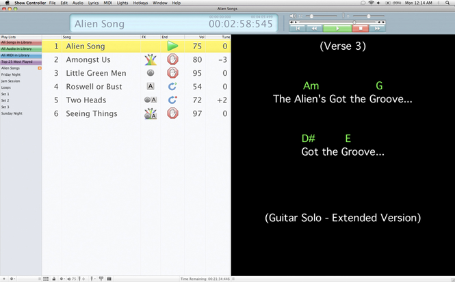 Solo Performer Show Controller SE Mac Screenshot 1