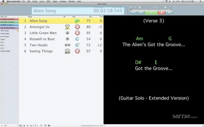 Solo Performer Show Controller SE Mac Screenshot 3