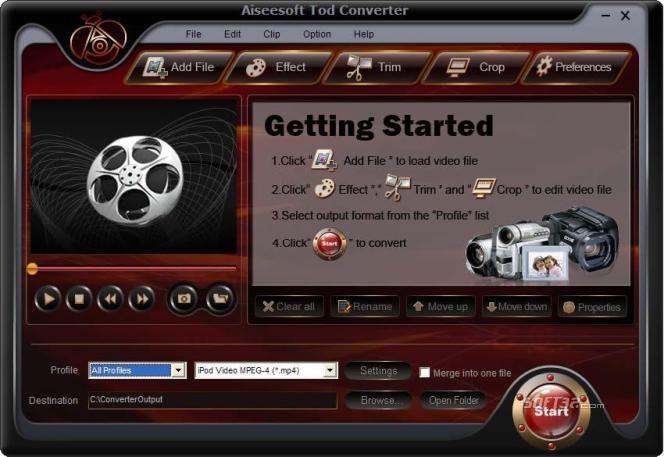 Aiseesoft Tod Converter Screenshot 3
