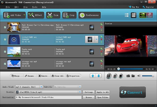 Aiseesoft Tod Converter Screenshot 1