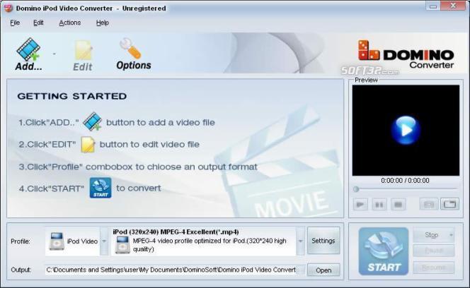 Domino iPod Video Converter Screenshot 2