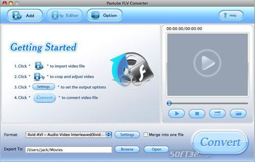 Pavtube FLV Converter for Mac Screenshot 3