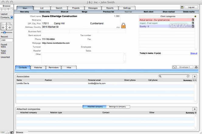 CRM plus for Windows Screenshot 3