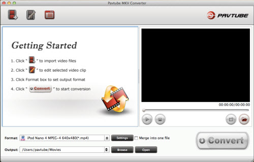 Pavtube MKV Converter for Mac Screenshot