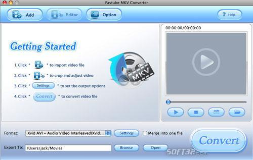 Pavtube MKV Converter for Mac Screenshot 3