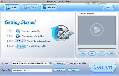 Pavtube MTS/M2TS Converter for Mac Screenshot 3