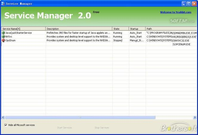 Service Manager Screenshot 2