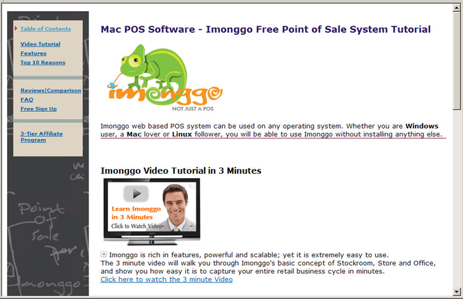 Free Mac POS System Imonggo Tutorial Screenshot