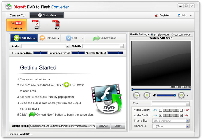 Dicsoft DVD to Flash Converter Screenshot