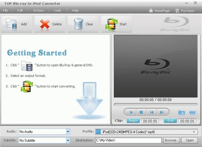 TOP Blu-ray to iPod Converter Screenshot 1
