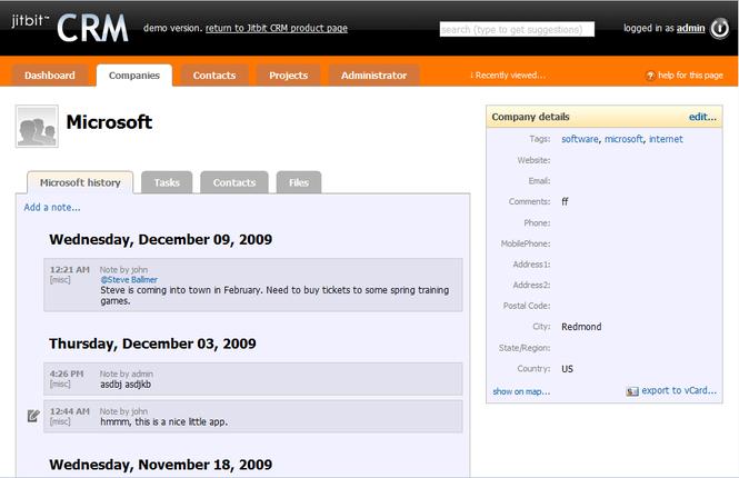 Jitbit CRM Screenshot