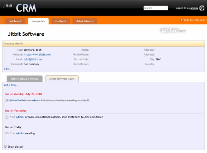 Jitbit CRM Screenshot 2
