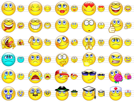 Cute Smile Icons Screenshot
