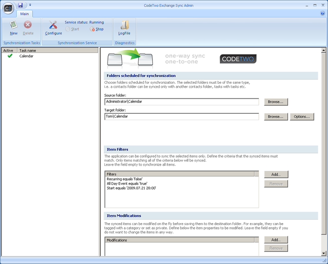CodeTwo Exchange Sync Screenshot 3