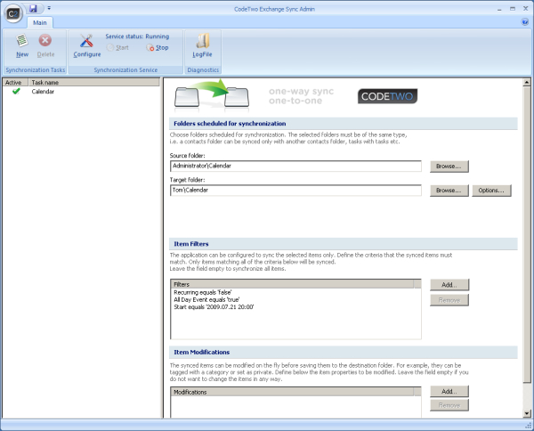 CodeTwo Exchange Sync Screenshot 1