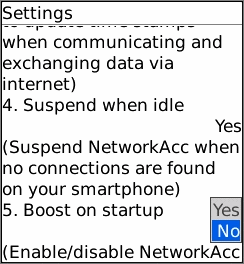 NetworkAcc S- Mobile Network Accelerator Screenshot 1