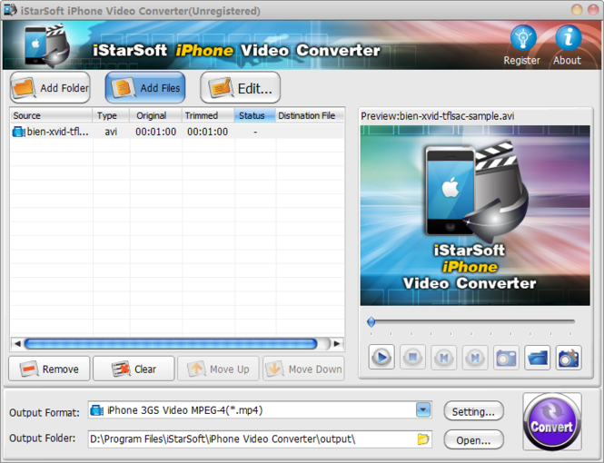 iStarSoft iPhone Video Converter Screenshot