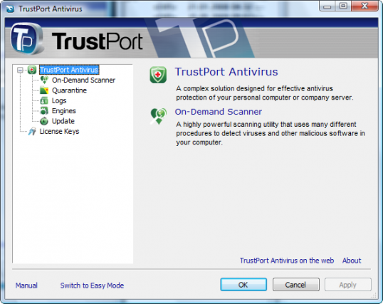 TrustPort U3 Antivirus Screenshot