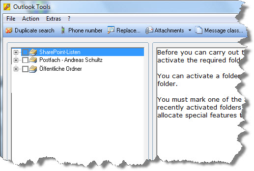 Outlook Tools Screenshot 1