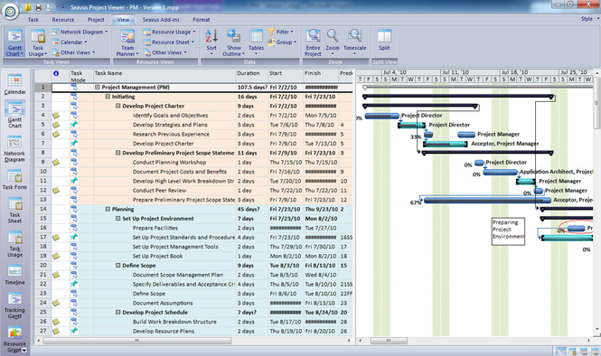 Seavus Project Viewer Screenshot
