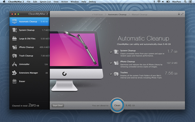 CleanMyMac 3 Screenshot