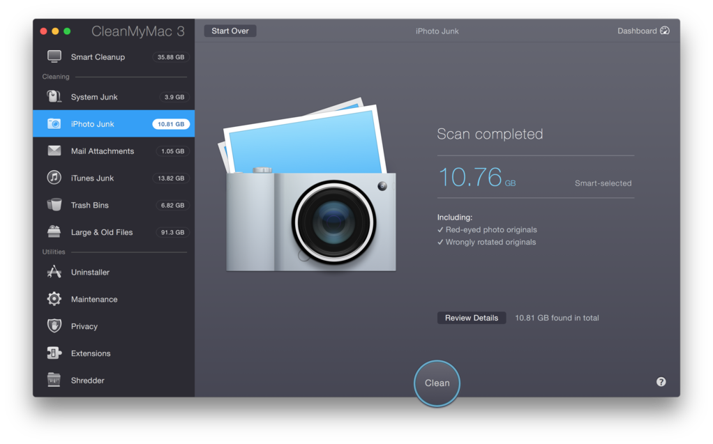 CleanMyMac 3 Screenshot 5