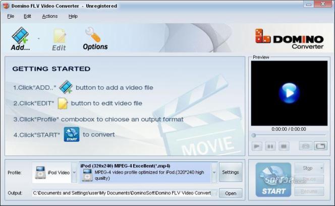 Domino FLV Video Converter Screenshot 2