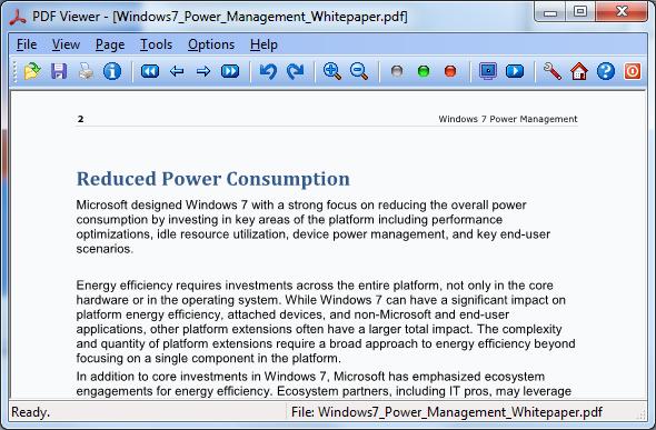 PDF Viewer for Windows 7 Screenshot